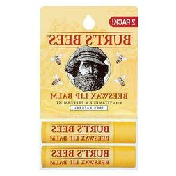 Burt's Bees Lip Balm Beeswax 0.15 Oz 2 Count