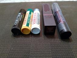 Burt's Bees Lip balm Lip Crayon Satin lipstick lot of 5 New