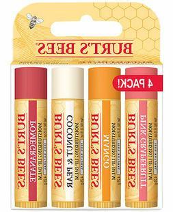 Burt's Bees Superfruit Lip Balm 4 Pack - Tube Purse Wax .15o