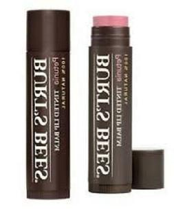 "Burt's Bees Tinted Lip Balm ""Petunia"" 100% All Natural 0.15"