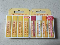 Burts Bees Beewax Lip Balm, 4 pack With Peppermint And Vitam