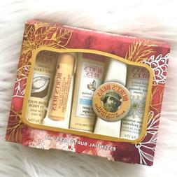 Burt's Bees Essential Kit 5 Pc Body Lotion Lip Balm Foot C