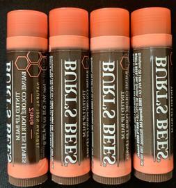 burts bees tinted lip balm lot of 4...Zinnia