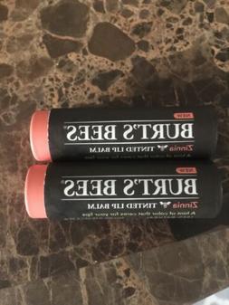 Burts Bees Tinted Lip Balm Zinnia Lot Of 2 0.15 Fl Oz / 4.25
