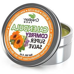 Calendula - Comfrey Salve - Super Salve - Large 4 oz Tin, Su