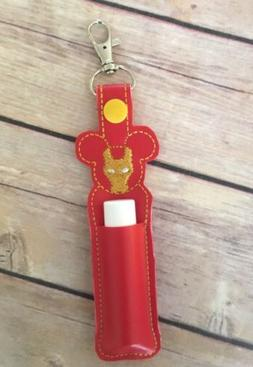 Chapstick Keychain, Lip Balm Holder, Ironman, superhero lip