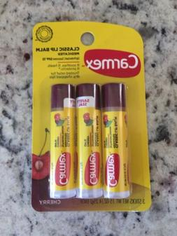 Carmex Cherry 3 Three Pack Sticks 0.15 Oz Each Lip Balm Stic