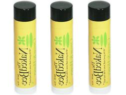 The Naked Bee CITRON & HONEY Organic Lip Balm - THREE PACK *