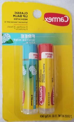 Carmex Classic tube of Medicated lip balm PLUS a tube of WIN