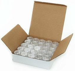 Clear Cosmetic Plastic Sample Makeup 50 PC Container Jar Emp