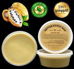Cocoa Butter Raw 8 oz. 100% Pure Organic Unrefined FOOD GRAD