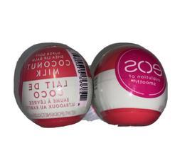 eos~Coconut Milk~Lot of 2~Natural Shea~Super Soft Lip Balm~O