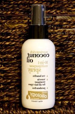 Oliology Coconut Oil 10-in-1 Multipurpose Spray 4oz Nutrient