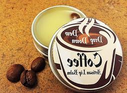 Coffee Flavored Lip Balm, Aluminum Tin, LARGER SIZE, 1/2 oz.
