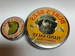 Combo 1 BURT'S BEES HAND SALVE 3 OZ Plus 1 Cuticle Cream .60