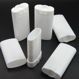 10PCS/15ML Empty Plastic Deodorant Container Oval Lip Balm