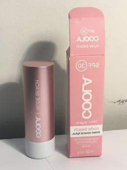 Coola Tinted Mineral Liplux Nude Beach Caramel SPF 30 Tinted