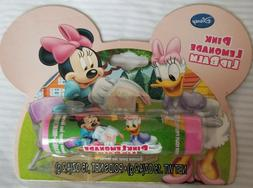Disney Minnie Mouse lip balm on an Ear shaped Card~Pink Lemo