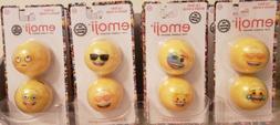 Emoji Lip Balm Ball Fruity Flavor 8 Pack each different mood