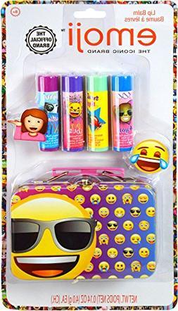 Emoji 4-pk. Lip Balm & Carry Case Set One Size Multi