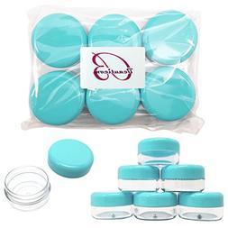 Beauticom 15 gram/15ml Empty Clear Small Round Travel Contai