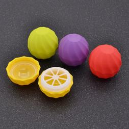 Empty Sphere Round Ball Lip Balm Cosmetic Containers 10pcs B
