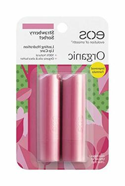 eos Organic Stick Lip Balm - Strawberry Sorbet | Certified O