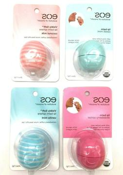 EOS Evolution Of Smooth FOUR ASSORTED FLAVORS Lip Balm 0.25