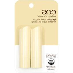 eos Evolution of Smooth Vanilla Bean Lip Balms, 0.14 oz, 2 c