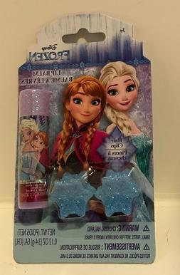 Disney FROZEN Elsa Anna Lip Balm + Gltter Hair Clips Little