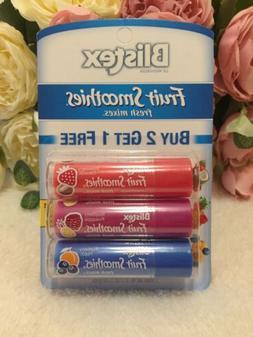 Blistex Fruit Smoothies Fresh Mixes Lip Balm 3 Pack Hydratin