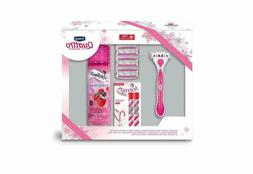 Gift Set - Schick Quattro For Women With Shave Gel And Softl