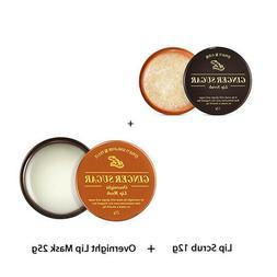 Ginger Sugar Overnight Lip Mask 25g + Lip scrub 12g