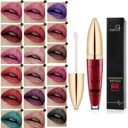 Glitter Liquid Lipstick Metallic Matte Lip Gloss Waterproof