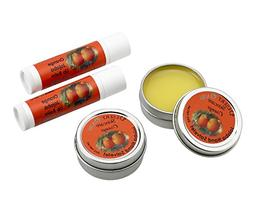 Jojoba Oil Orange Travel Size Hand Salve and Lip Balm, all n