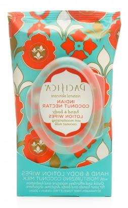 Pacifica Hand & Body Lotion Wipes - Indian Coconut Nectar --