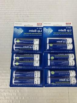 CVS Health SPF 15 Lip balm 2 in pack 0.15Oz Each X 6 Packs 1