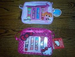 Hello Kitty or Lalaloopsy  Set- 2 Lip Balms & 2 Lip Gloss Tu