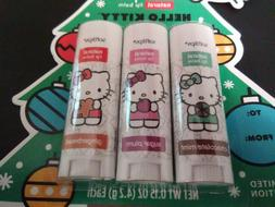 Hello Kitty Soft Lips Natural Lip Balm Limited Edition 3 Pac