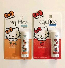 Softlips Hello Kitty Tangerine Apple Natural Lip Balm Chap S