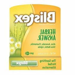 Blistex Herbal Answer Lip Balm Spf 15 .15oz Pack of 4
