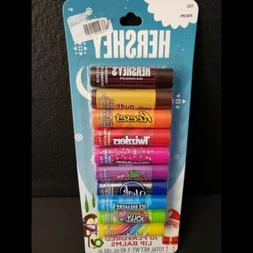 hershey 10 flavored lip balm candy girls