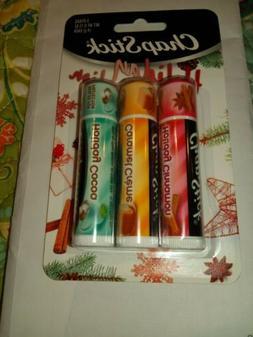 Chapstick Holiday Collection- Cinnamon, Caramel Cream, & Hol