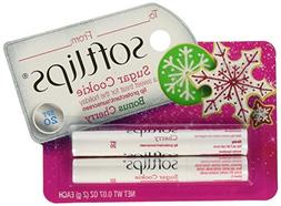 Softlips Holiday Sugar Cookie and Cherry Lip Balm - SPF 20 -