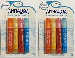 Aquafina Hydrating Lip Balm 4 Pack Jojoba & Almond Oil Pure