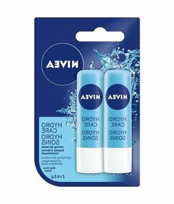 NIVEA Hydro Care Lip Balm Sticks, Duo Pack, 2 x 4.8g {Import
