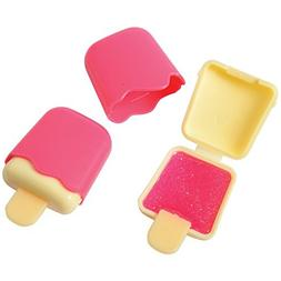 Lot Of 6 Popsicle Ice Cream Bar Pink Glitter Lip Gloss