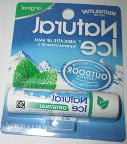 Mentholatum Natural Ice Medicated Lip Protectant Sunscreen,