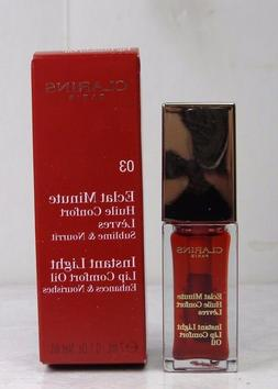 Clarins Instant Light Lip Comfort Oil 03 Red Berry 0.1 oz /