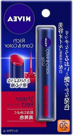 Nivea Japan Rich Care & Color Lip Cream SPF20 PA++ with Beau